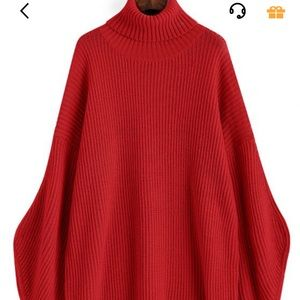 Sweaters - Red turtleneck sweater